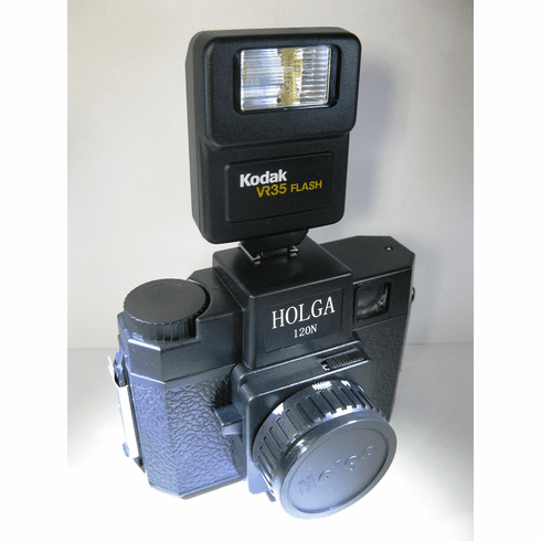 Holga 120N Camera with Kodak VR35 Flash Outfit