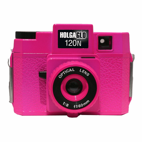 Holga Holgaglo 120n Glow in the Dark Camera Fuschia Pink