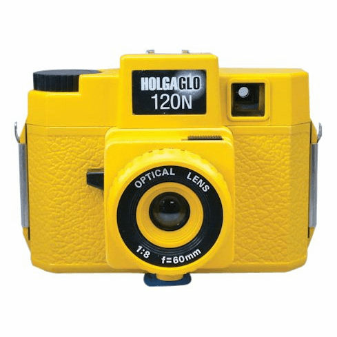 Holga Holgaglo 120N Solar Yellow Glow in the Dark 120 Film Camera