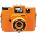 Holga Holgaglo Glow in the Dark 120N Camera Orange Burst