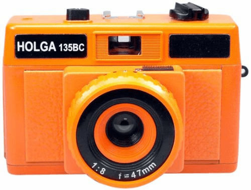 Holga Holgaglo Glow in the Dark 135BC 35mm Camera Orange