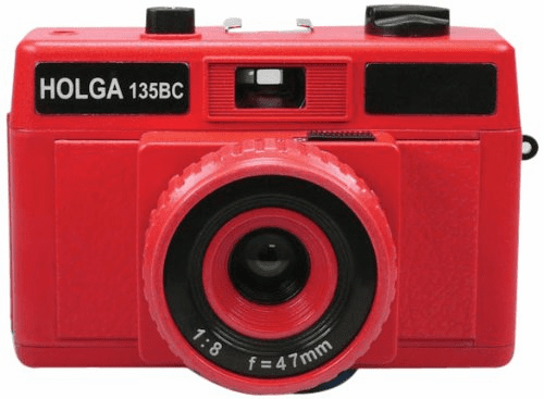 Holga Holgaglo Glow in the Dark 135BC 35mm Camera Red