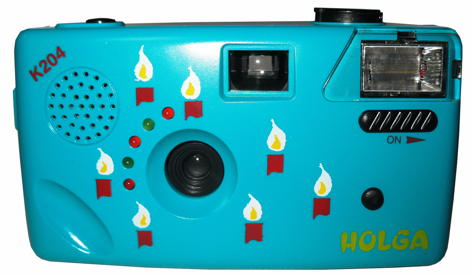 Holga K-204 35mm Original Teal Blue Noise Making Film Camera