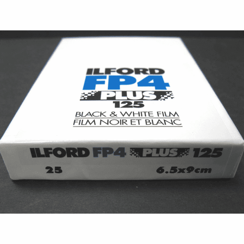 "Ilford FP4 Plus ISO 125, 2.5x3.5"" (6.5x9cm), 25 Sheets"