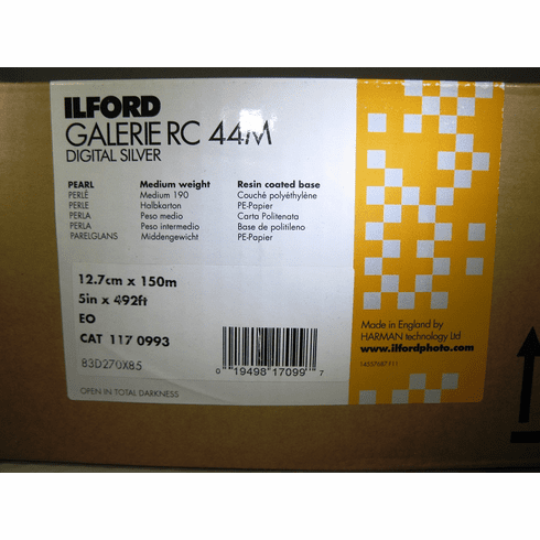 Ilford Galerie RC 44M (Pearl) Digital Silver Paper 5 in. x 492 ft. Roll B & W