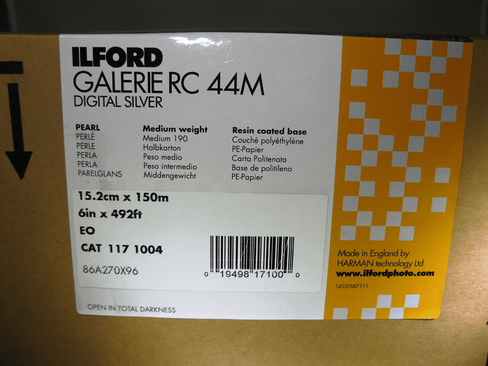 Ilford Galerie RC 44M (Pearl) Digital Silver Paper 6 in. x 492 ft. Roll B & W