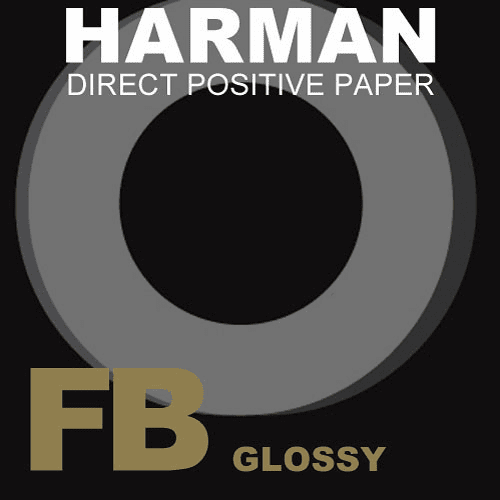 "Ilford Harman Direct Positive Fiber Based (FB) Paper (4 x 5"", Glossy , 25 Sheets)"