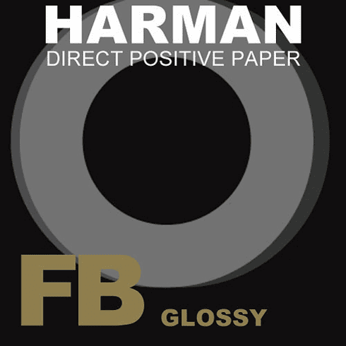 "Ilford Harman Direct Positive Fiber Based (FB) Paper (5 x 7"", Glossy , 25 Sheets)"