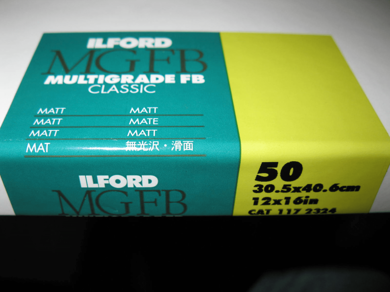 Ilford MGFB Multigrade FB Classic 12x16 50 Sheets Matt