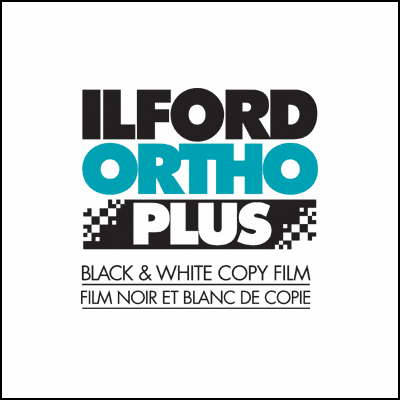 "Ilford ORTHO Plus Manufacturing Program 10"" x 12"" / 25 Sheet Film"