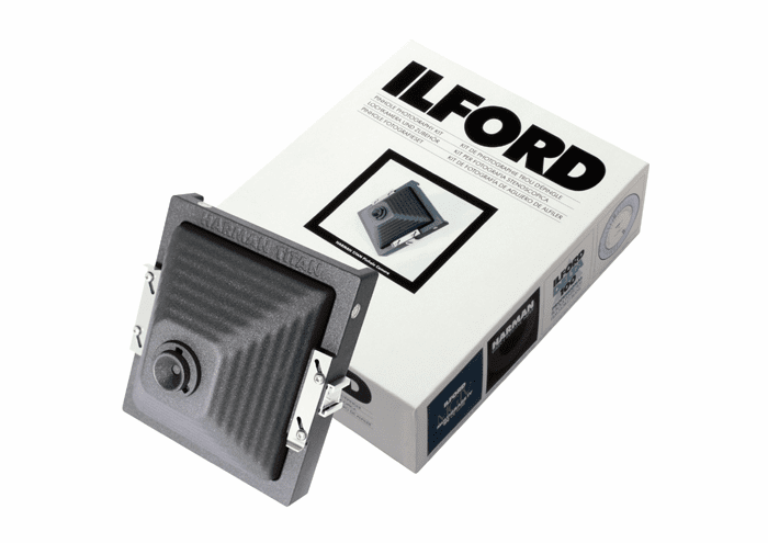 ILFORD Pinhole Photography Kit featuring the HARMAN TiTAN PINHOLE CAMERA
