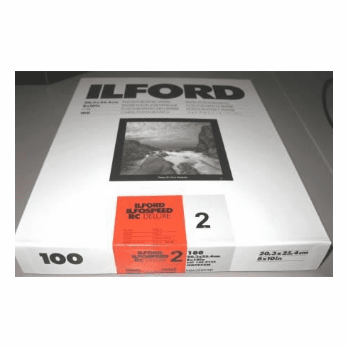 "Ilfospeed RC Deluxe Enlarging Paper - 8x10"" 100 Sheets Pearl Grade 2"