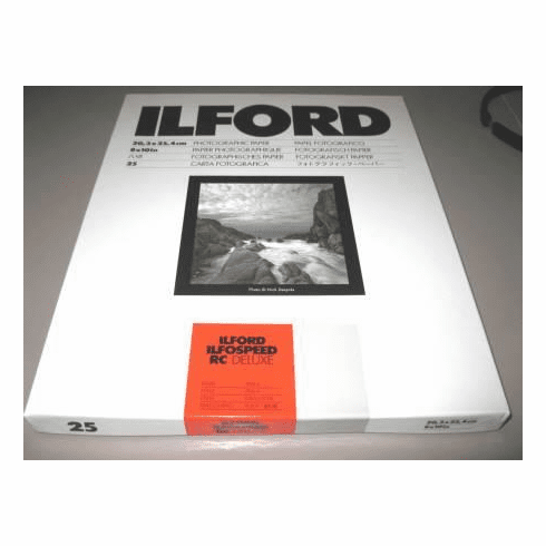 "Ilfospeed RC Deluxe Enlarging Paper - 8x10"" 25 Sheets Pearl Grade 2"