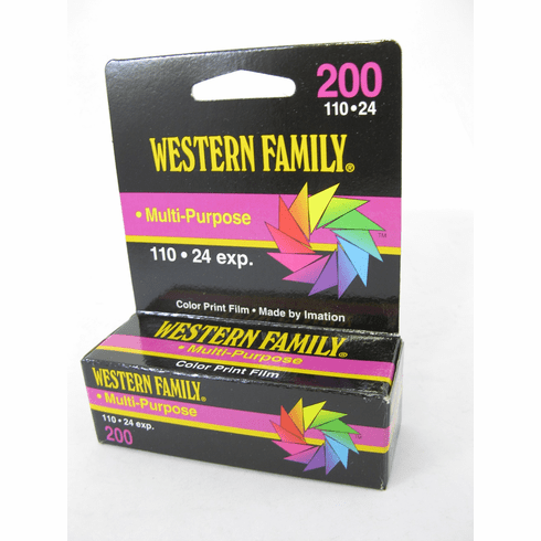 Imation 3M Western Family 110 ISO 200 Film 24 Exposure