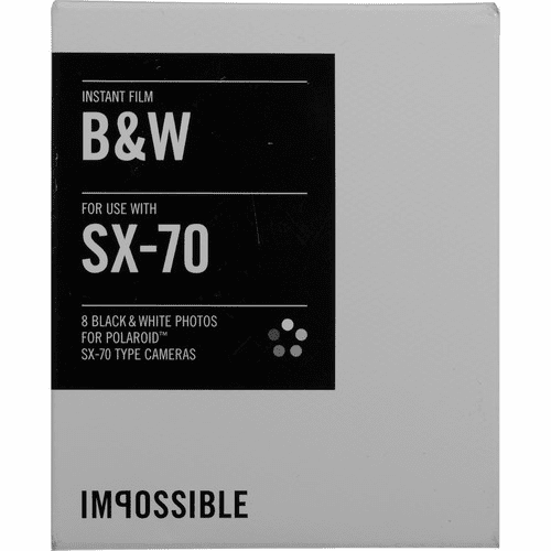 Impossible Instant Black & White Film for Polaroid SX-70 Cameras