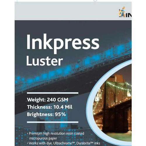 Inkpress PCL851150 Commercial Luster Inkjet Paper 8.5in. X 11in. / 50 Sheets