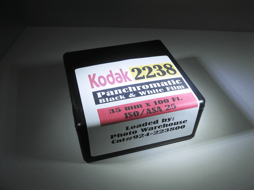 Kodak 2238 Black & White Film Pan ISO 25 35mm x 100 Foot Roll