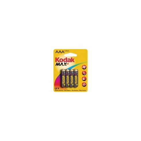 Kodak 4 Pack AAA Alkaline Batteries