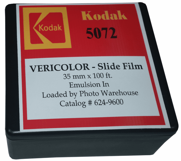 Kodak 5072 Vericolor Slide Film 35mm x 100 Foot Roll