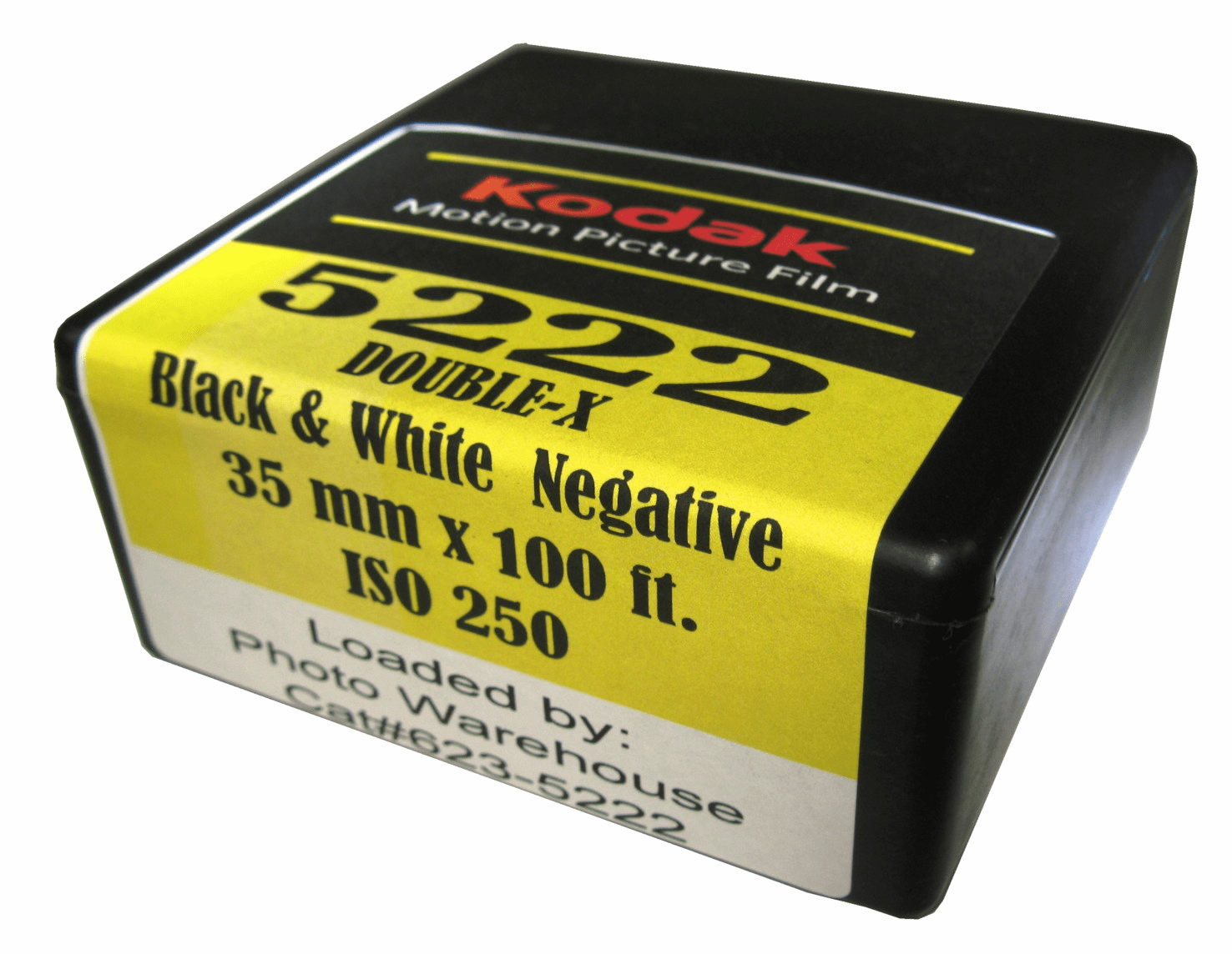 Kodak 5222 Double - X Black & White Film 35mm x 100 ft Roll ISO 250