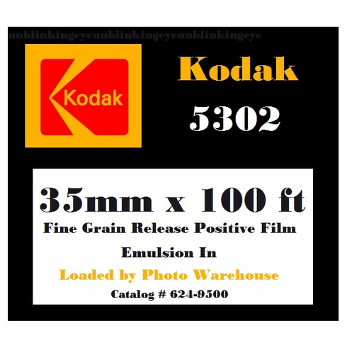 Kodak 5302 Fine Grain Positive Release Film 35mm x 100 Foot Roll