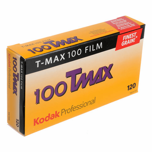 Kodak T-Max 100 Black & White 120 Film 5 Pack Special 12/2019