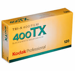 Kodak Tri-X 400 Film 120 Format 5 Roll Pack