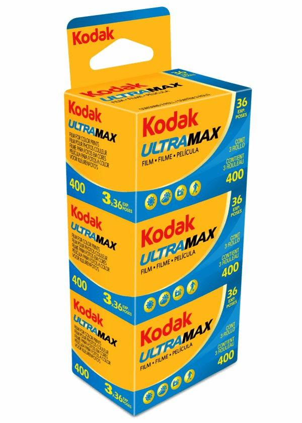 Kodak Ultramax ISO 400 Color Print Film 36 Exp - 3 Pack