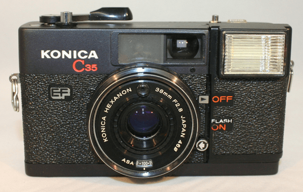 Konica C35 EF Camera w/Hexanon 38mm f2.8 Lens - Used