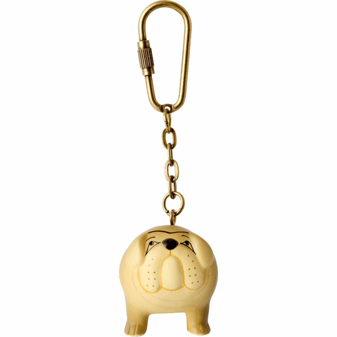 Lisa Larson Mini-animal Key Ring (Bulldog)