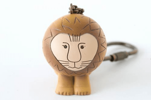 Lisa Larson Mini-animal Key Ring (Lion)