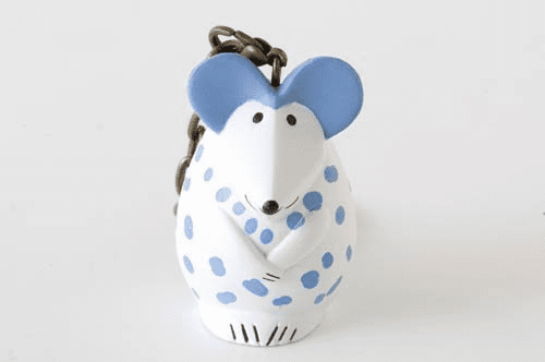 Lisa Larson Mini-animal Key Ring (Mouse/Rat)