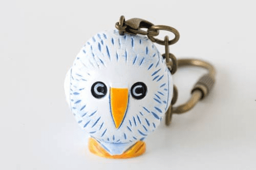 Lisa Larson Mini-animal Key Ring (Owl/Bird)