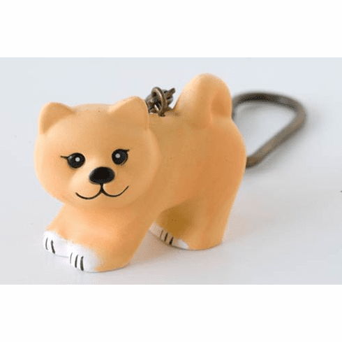 Lisa Larson Mini-animal Key Ring (Shiba Dog)