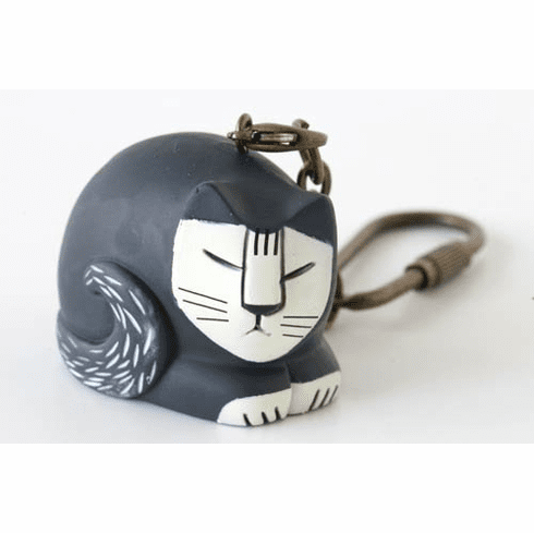 Lisa Larson Mini-animal Key Ring (Sleeping cat)