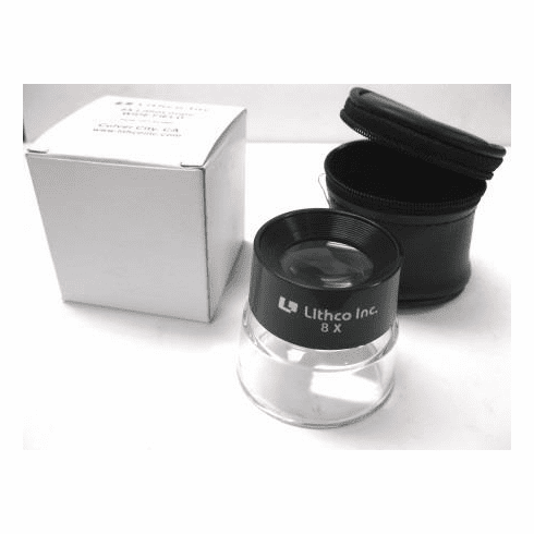 Lithco 8x Wide Field Loupe with Storage Case
