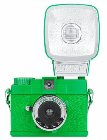 Lomographic Society Diana MINI FERN GREEN 35mm Camera WITH FLASH