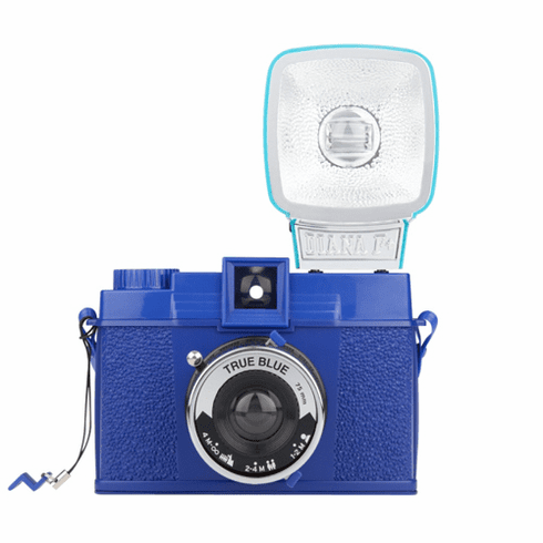 Lomographic Society Diana MINI TWILIGHT BLUE 35mm Camera WITH FLASH