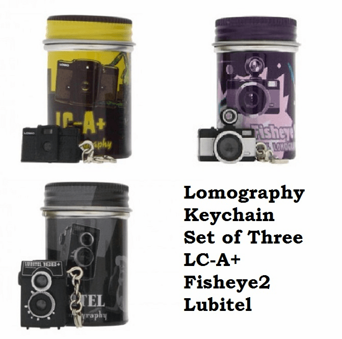 Lomographic Society Keychain Set of Three