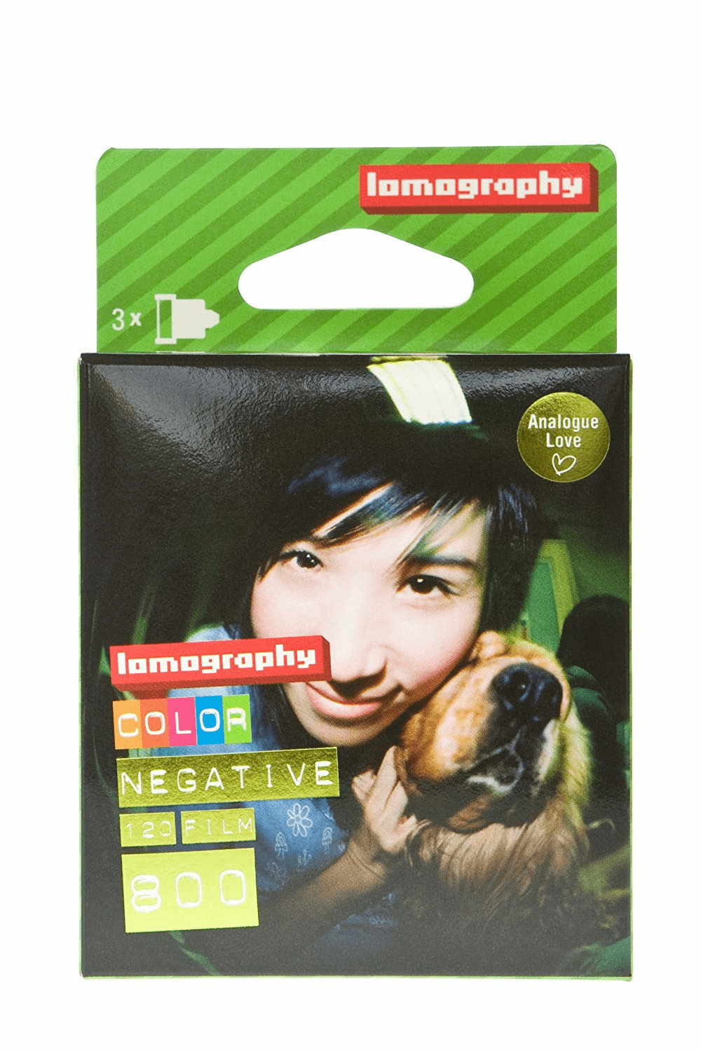 Lomography 120 Format ISO 800 Fine Color Negative Film - 3 Pack