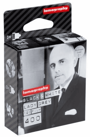 Lomography Lady Grey B&W 120 Film ISO 400 3-Pack