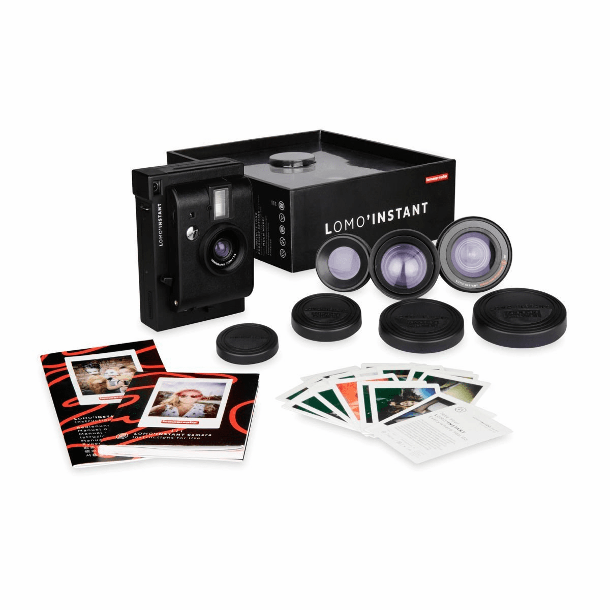 Lomography Lomo Instant Plus Three Lenses Camera Black