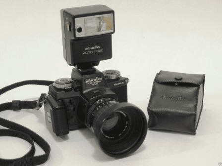 Minolta 110-Zoom-SLR MARK II Camera and Auto-Electroflash 118X Outfit- Used