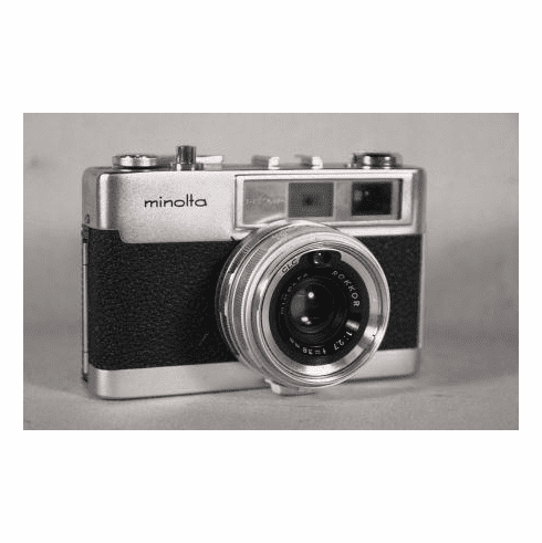 Minolta AL-F Mint 35mm Rangefinder Camera with sharp Rokkor 38mm f/2.7 Lens with Seiko Shutter - Used