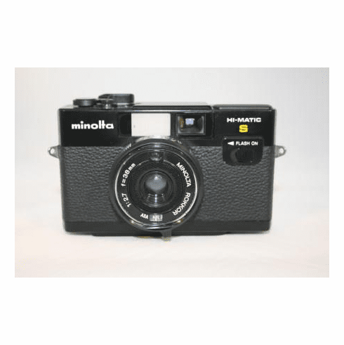 Minolta Hi-Matic S 35  mm Camera Rokkor1:2.7 38mm Lens and Case - Used