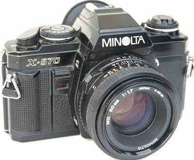 Minolta X-570 35mm Camera with 50mm Lens- Student Camera - Used