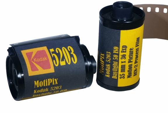 MotiPix Kodak 5203 35 mm x 36 Exp Motion Picture ECN-2 Process Film 50D