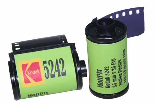 MotiPix Vintage Kodak 5242 35 mm x 36 Exp Motion Picture ECN-2 Process Film Slow Speed