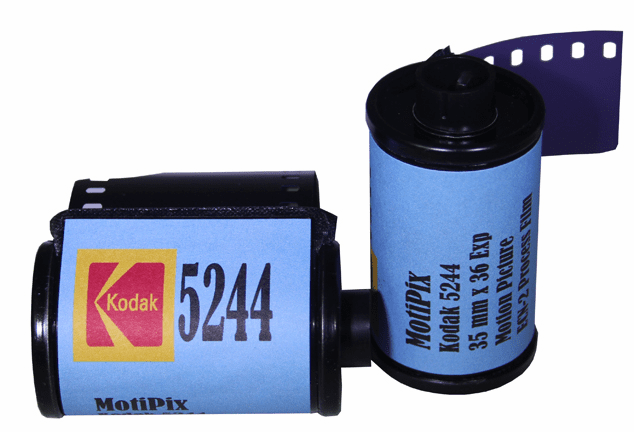 MotiPix Vintage Kodak 5244 35 mm x 36 Exp Motion Picture ECN-2 Process Film Slow Speed