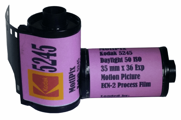 MotiPix Vintage Kodak 5245 35 mm x 36 Exp Motion Picture ECN-2 Process Film 50D